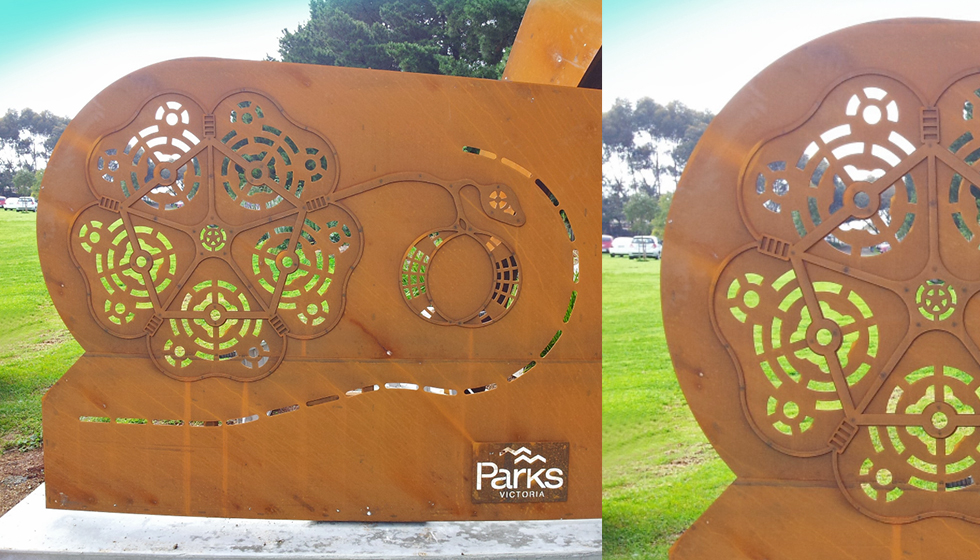 general-laser-werribee-rose-garden-entry-arch-sculpture-01